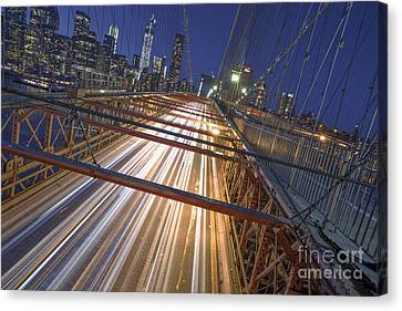 Nyc Power Surge Canvas Print by Marco Crupi