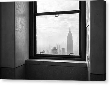 Nyc Room With A View Canvas Print by Nina Papiorek