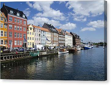Nyhavn - Copenhagen Denmark Canvas Print by Jon Berghoff