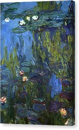Nympheas Canvas Print by Calude Monet