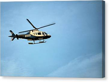 Nypd Aviation  Canvas Print by JC Findley