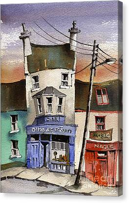 O Heagrain Pub Viewed 14254 Times Canvas Print by Val Byrne