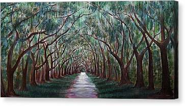 Oak Avenue Canvas Print by Anastasiya Malakhova