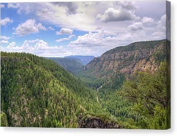 Oak Creek Canyon Canvas Print by Ricky Barnard