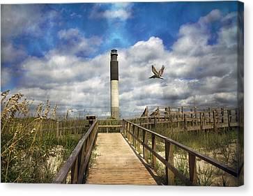 Oak Island Lighthouse Canvas Print by Betsy C Knapp