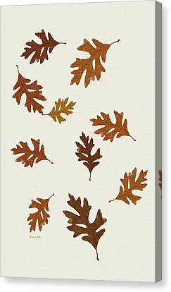 Oak Leaves Art Canvas Print by Christina Rollo