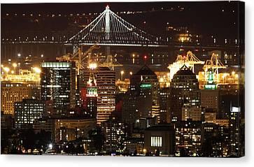 Oakland California Skyline Canvas Print by Georgia Fowler