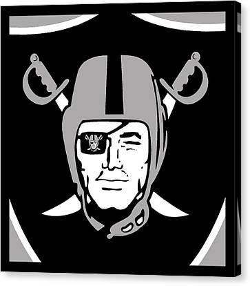 Oakland Raiders Canvas Print by Tony Rubino