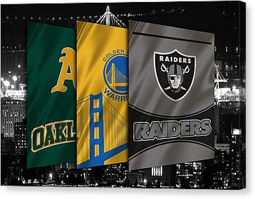 Oakland Sports Teams Canvas Print by Joe Hamilton