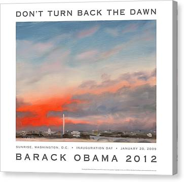 Obama Campaign Poster 2012 Canvas Print by William Van Doren