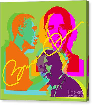 Obama Canvas Print by Jean luc Comperat