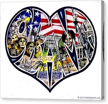 Obama's Presidency  Canvas Print by Alexis Heath