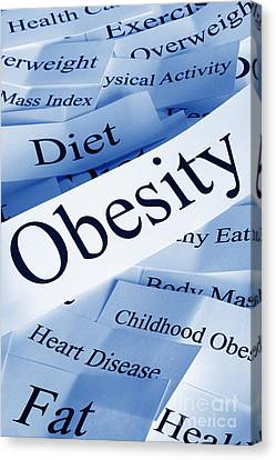 Obesity Concept Canvas Print by Colin and Linda McKie