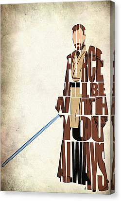 Obi-wan Kenobi - Ewan Mcgregor Canvas Print by Ayse Deniz