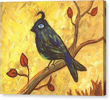 Observant Bird 101 Canvas Print by Linda Mears