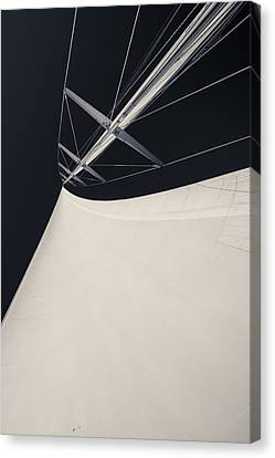 Obsession Sails 4 Black And White Canvas Print by Scott Campbell