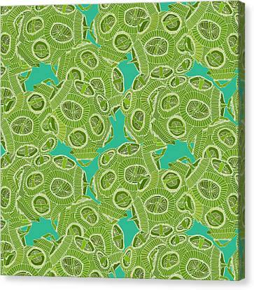 Ocean Algae Canvas Print by Sharon Turner