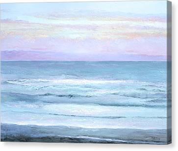 Ocean At Sunset Canvas Print by Jan Matson