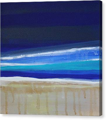 Ocean Blue Canvas Print by Linda Woods