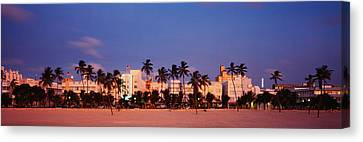 Ocean Drive South Beach Miami Beach Fl Canvas Print by Panoramic Images
