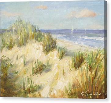 Ocean Dunes Canvas Print by Sarah Parks