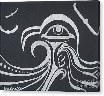 Ocean Eagle Eye Canvas Print by A Cyaltsa Finkbonner