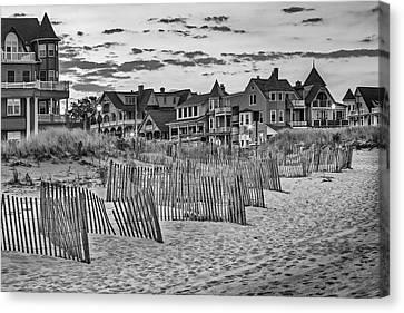 Ocean Grove Asbury Park Nj Bw Canvas Print by Susan Candelario
