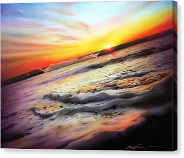 Ocean - ' Ocean Infinity ' Canvas Print by Christian Chapman Art