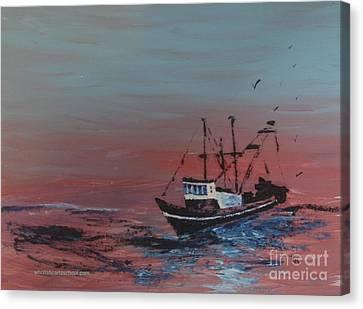 Ocean Rider Canvas Print by PainterArtist FIN