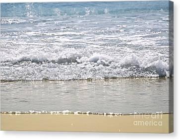 Ocean Shore With Sparkling Waves Canvas Print by Elena Elisseeva