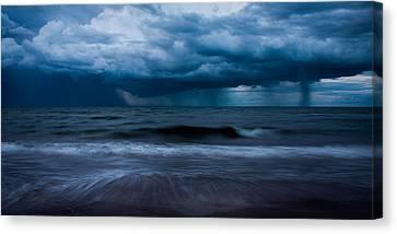 Ocean Storm Panorama Canvas Print by Matt Dobson
