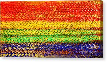 Ocean Sunset - Abstract Oil Painting Original Metallic Gold Textured Modern Contemporary Art Canvas Print by Emma Lambert