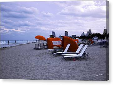 Ocean View 6 - Miami Beach - Florida Canvas Print by Madeline Ellis