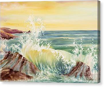 Ocean Waves II Canvas Print by Summer Celeste