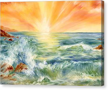 Ocean Waves IIi Canvas Print by Summer Celeste