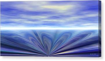 Oceanic Sink Hole Canvas Print by Wayne Bonney