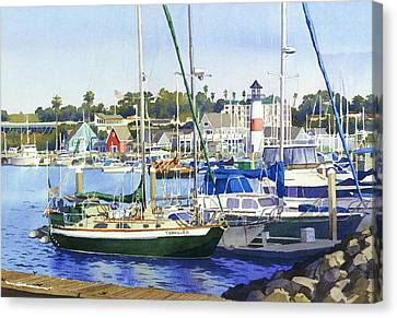 Oceanside Harbor Canvas Print by Mary Helmreich