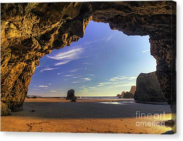 Oceanside Hideout Canvas Print by Mark Kiver