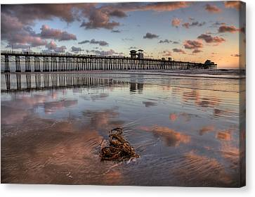 Oceanside Pier Seaweed Canvas Print by Peter Tellone