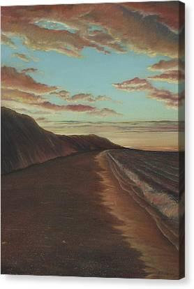 Oceanside Sunset Canvas Print by Jennifer  Creech