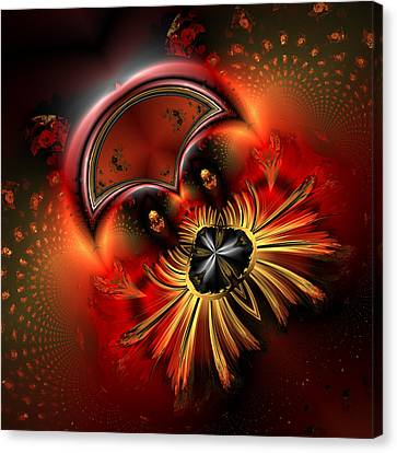 Ocf 199 Fido In Abstract Canvas Print by Claude McCoy