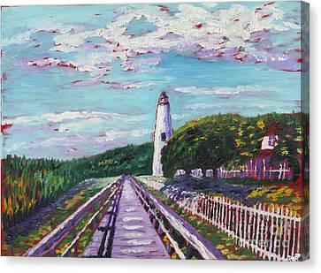 Ocracoke Lighthouse Canvas Print by Preston Sandlin