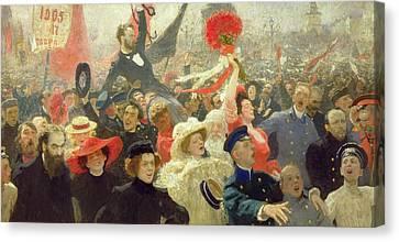 October 17th 1905 Canvas Print by Ilya Efimovich Repin