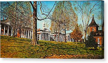 October Lawn Canvas Print by Thomas Akers