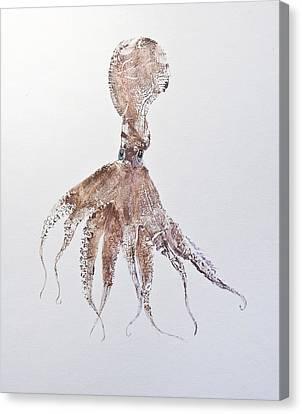 Octopus Canvas Print by Nancy Gorr