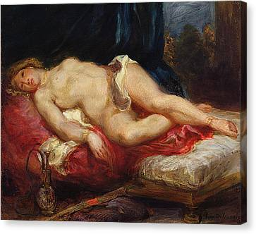 Odalisque Canvas Print by Ferdinand Victor Eugene Delacroix