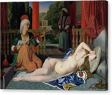 Odalisque With Slave Canvas Print by Ingres