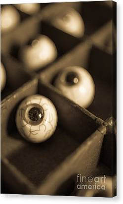 Oddities Fake Eyeballs Canvas Print by Edward Fielding
