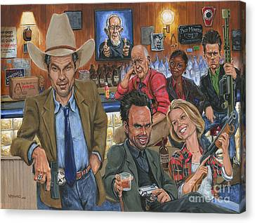 Ode To Justified Canvas Print by Mark Tavares