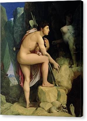 Oedipus And The Sphinx Canvas Print by Ingres